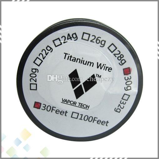 Yeni Titanyum Tel Buhar Tech Isıtma Tel Direnci AWG 26 28 30g Buharlaştırıcı Sıcaklık Kontrolü Mod RDA RBA Atomizer Için DHL Ücretsiz