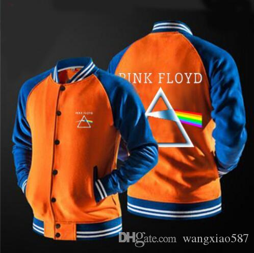 Fashion youth Style Jackets Men 2017 Spring Jackets Men Casual Pink Floyd Printed Patchwork Jacket coats S--5XL,