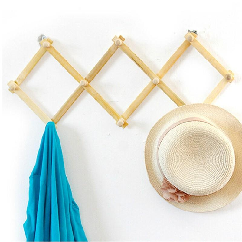 Wall Cloth Hanger best expandable solid wooden coat hanger 10 peg keys hat towel