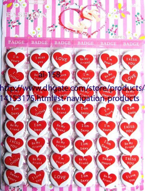 Trasporto libero 40 fogli 1920 pz 4,5 cm Cartoon Badge Button Party Gifts NUOVO All'ingrosso