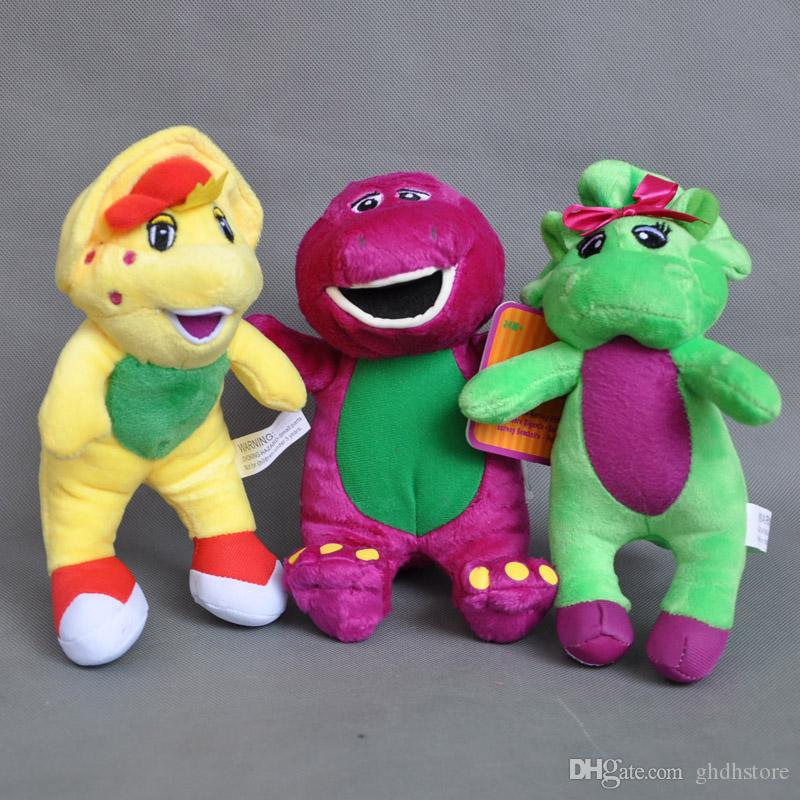 2018 Cute 3x Barney  Friend Baby Bop Bj Plush Doll Stuffed Toy
