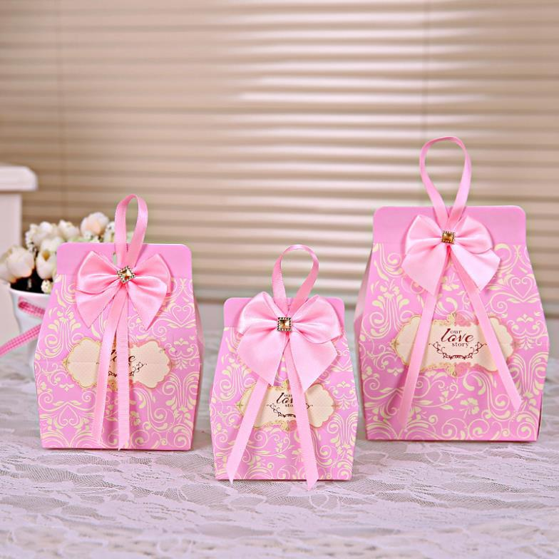 Pink Candy Boxes Party Favors Wedding Box Sweets Party Favour Baby