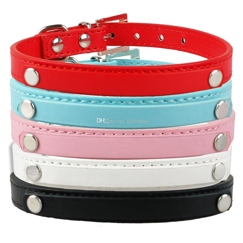 Mixed PU Leather Personalized Custom Dog Collars for 10mm Letters ... d45c38b7d5c8