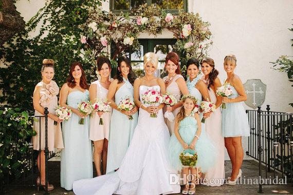 Lovely Mint Green Flower Girls Suknie Tutu Sukienka Spaghetti Paski Empire Sash Balowa Suknia Piętro Długość Wedding Party Suknia Dziewczyna Korowód Sukienka