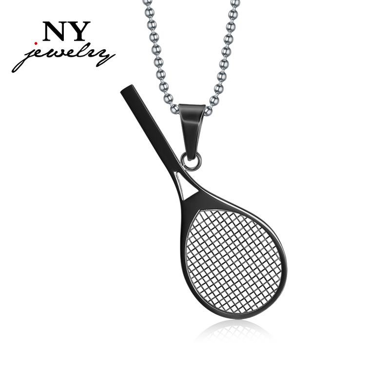 Wholesale cute tennis racket necklace pendant sport jewelry wholesale cute tennis racket necklace pendant sport jewelry stainless steel gifts for men women mens necklaces silver necklace from jewelrywatch mozeypictures Gallery