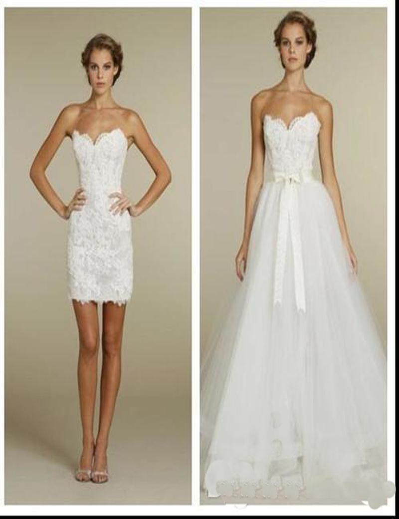 Discount short wedding dresses with detachable skirt 2016 two discount short wedding dresses with detachable skirt 2016 two pieces vintage lace plus size sweetheart little white bridal gowns 2016 winter spring cheap ombrellifo Choice Image