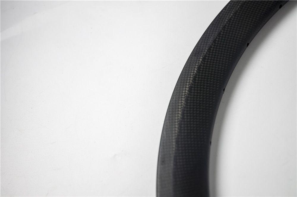 New 700C 38mm Road bike matt 3K UD 12K full carbon bicycle wheel clincher tubular rim with basalt brake surface 20.5/23/25mm width Free ship