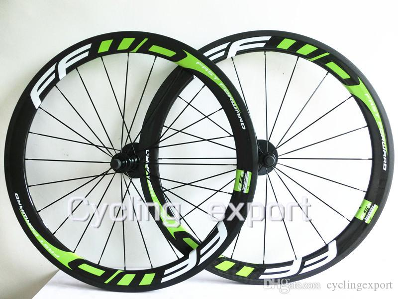 Hot Ffwd Carbon Wheels Road Bike Green Stickers Carbon Fiber Road