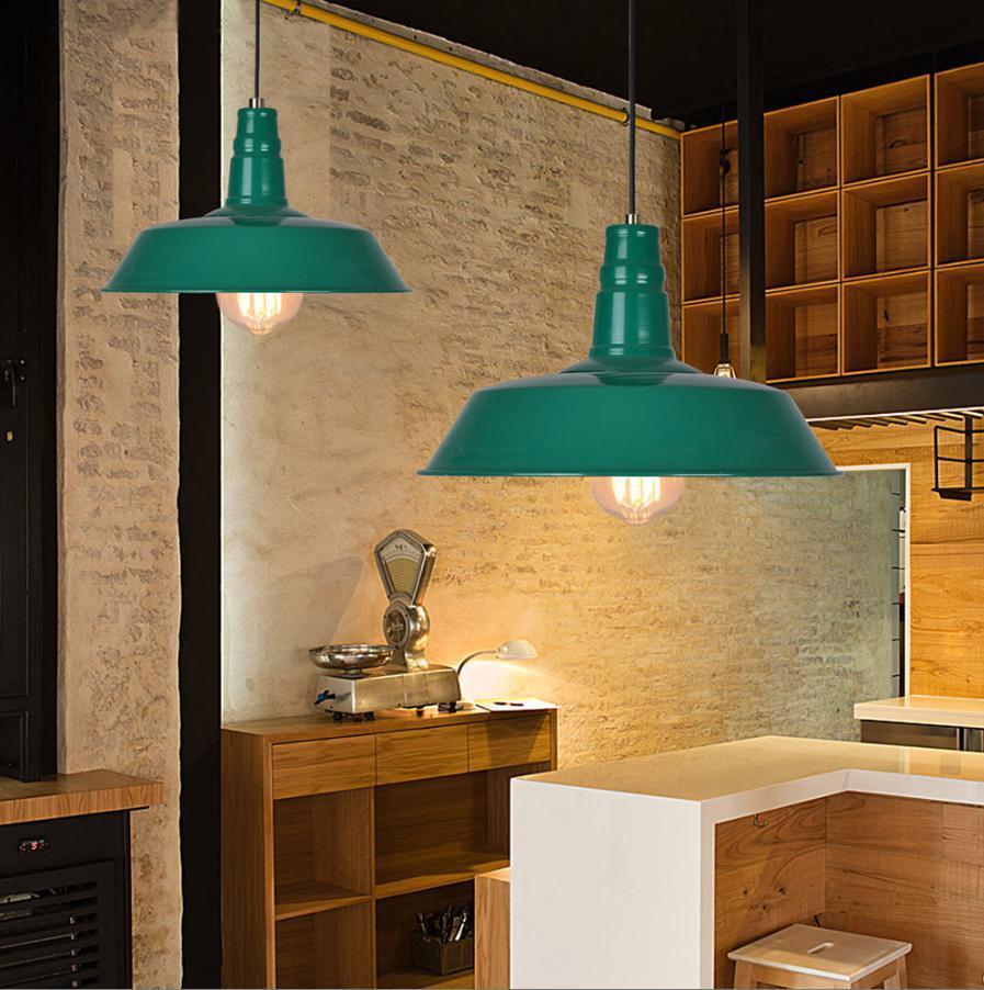 euro diy loft nordic vintage brief industrial pendant lamp 36cm colored metal shade pendant. Black Bedroom Furniture Sets. Home Design Ideas
