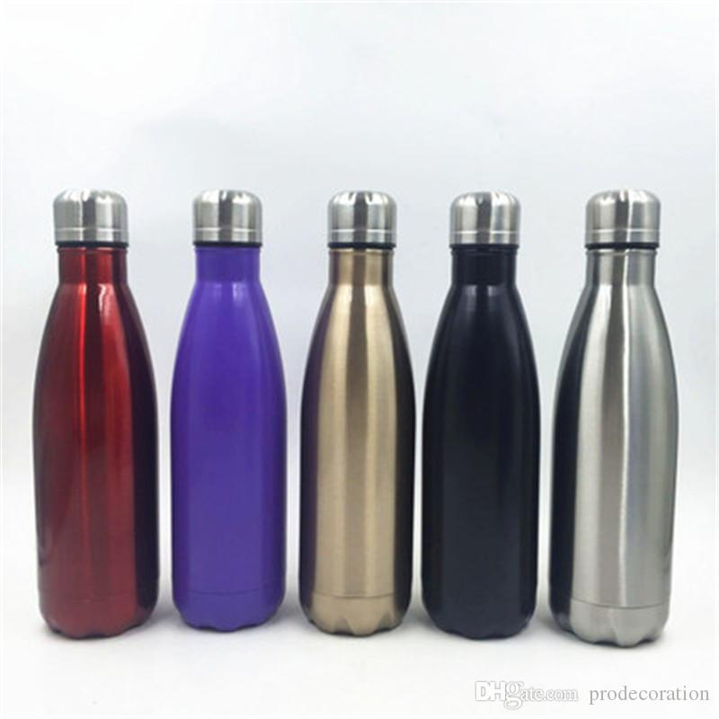 Creative Water Bottle Cola Shaped 500ml Double Wall Stainless Steel Cool Water Bottles Direct Factory Price