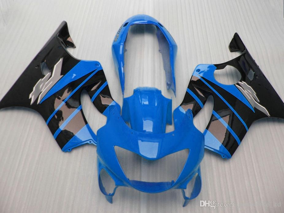 Body parts Sky blue Injection molding for Honda custom fairings CBR 600 F4 1999 2000 fairing kit CBR600 F4 99 00 SZBO