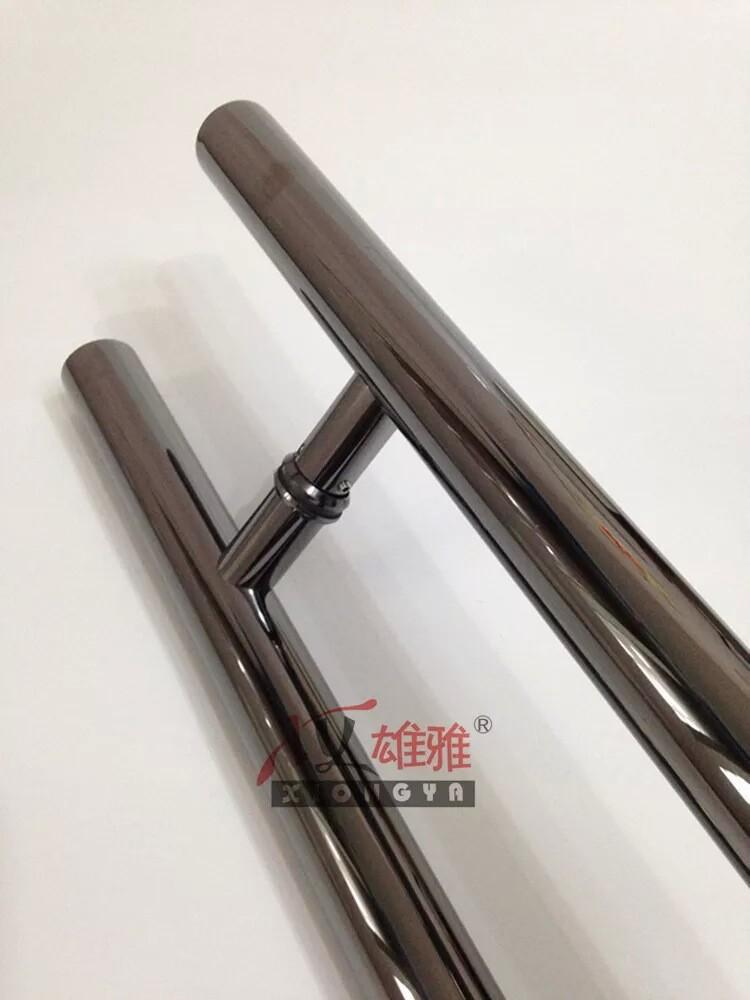 Online Cheap High Grade Titanium Black Glass Door Pull Handle ...
