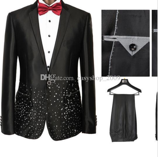 The groom's best man suit Business Suits 2-piece Set Wedding Prom Suits business suits S-3XL