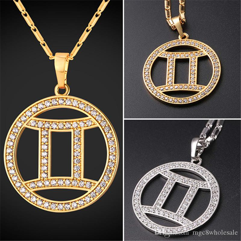 necklace gemini pendant