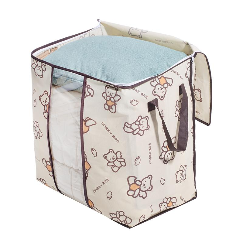 Non-woven fabric quilt storage bag Korea large finishing bag quilt dust bag,Family bed Under Closet Clothes Storage bag