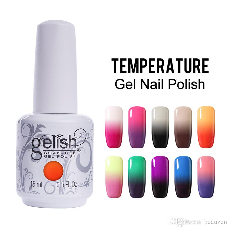 Color Changing UV Gel Nail Gelish Nail Art Soak Off Temperature Gel 48 Colors 15ml 6Pcs/Lot