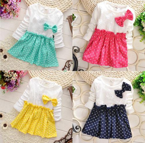 1cc3192a3560 2019 Zoo Party Fashion Winter Girls Dresses Brand Velvet Inside Children Clothes  Baby Girls Bow Stitching Stars Dress Girl Wholesale From Helen20142015, ...