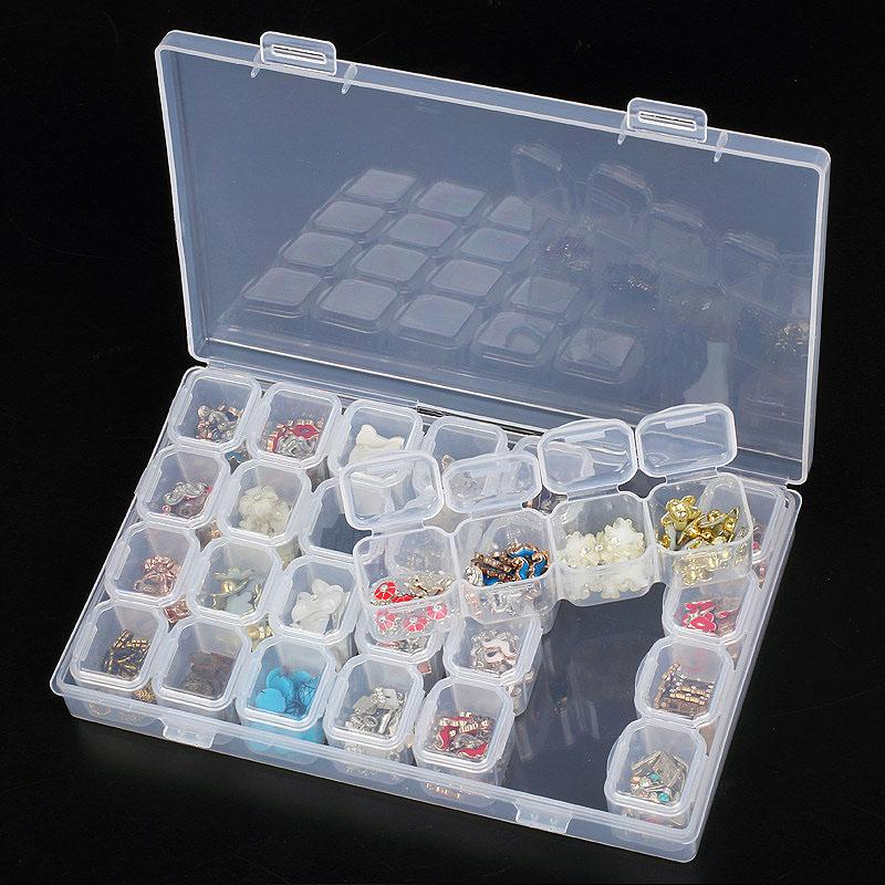 28Lattices Dismountable Diamond Painting Box Embroidery Accessories  Rhinestones Boxes Cross Stitch Cases Home Storage High Quality Diamond Pain  China ...