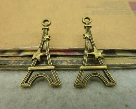 13x28mm Flat Eiffel Tower Charm pendant Antique bronze Lovely charms For diy necklace Jewelry Making findings