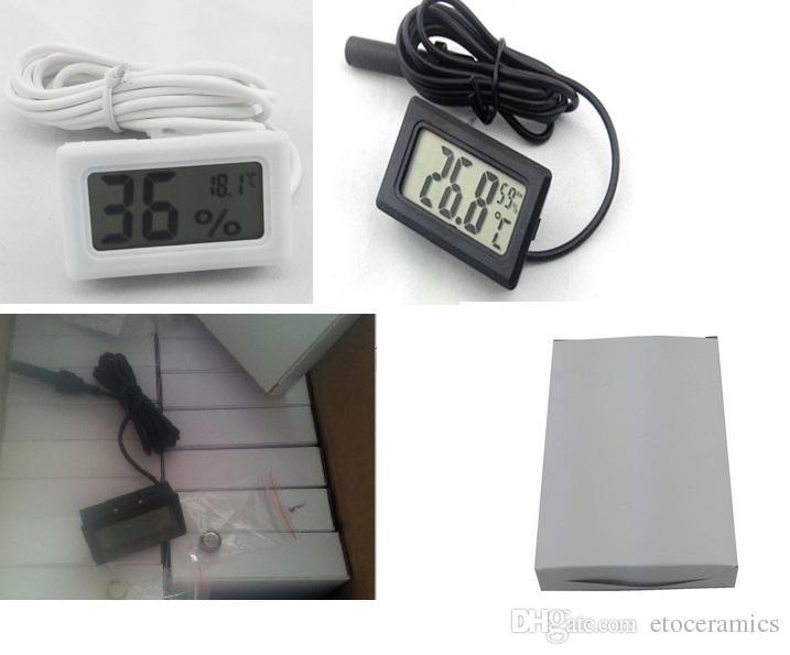 Mini Cyfrowy Termometr LCD Higrometr Temperatura Miernik Wilgotności Termometr Sonda Biała i czarna W magazynie Bezpłatna Wysyłka