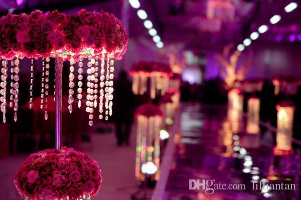Prisma de cristal Beading Pendurado Ornamento De Cristal Octagonal Bead Cortina Garland Strands DIY Craft Decoração Do Casamento Do Partido 10 m / lote