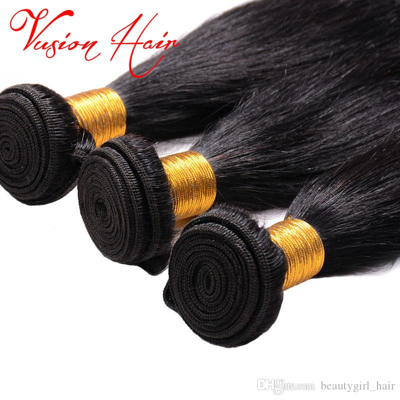 New Product Malaysian Straight Remy Human Hair 3 BundlesNatural Black 8-28 Mixed Inch Unprocessed Weaving 7A Virgin Hair Extensions