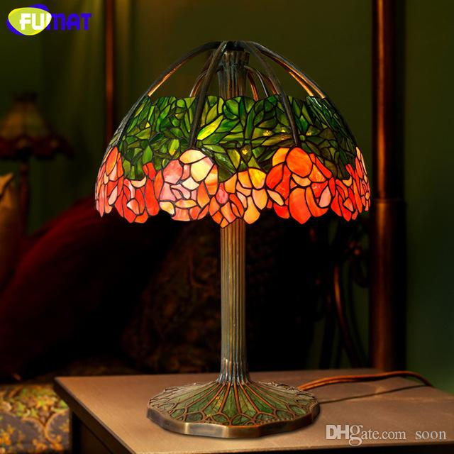 2018 fumat art glass lamp high quality table lamp pure copper lotus 2018 fumat art glass lamp high quality table lamp pure copper lotus stained glass creative for living room study office stand lamps from soon aloadofball Choice Image