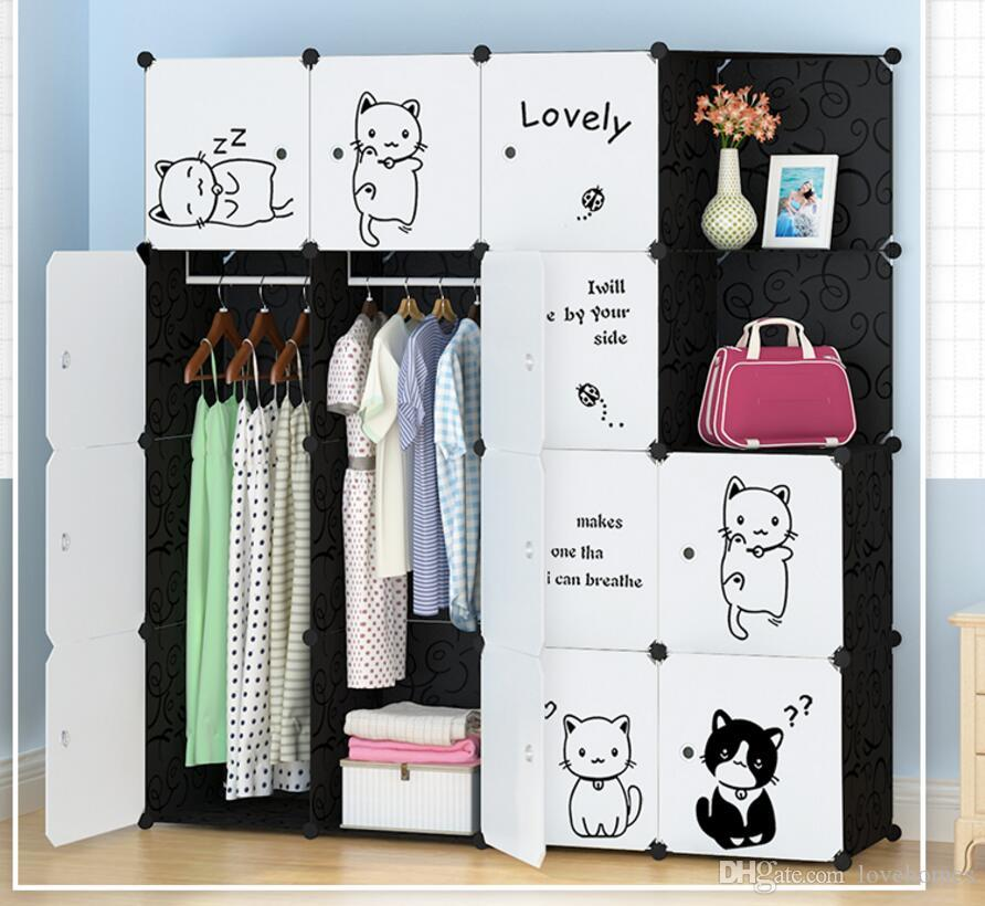 Amazing Furniture Wardrobe Bedroom Nonwoven Wardrobes Cloth Storage Saving Space Locker  Closet Sundries Dustproof Storage Cabinet 10 Styles LH08 Wardrobe Wardrobe  ...
