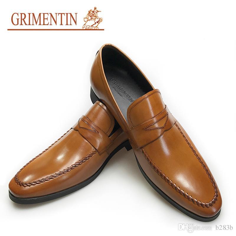 Compre Grimentin Marca Marca Marca Hombre Zapatos Venta Caliente Hecho A Mano 55e815