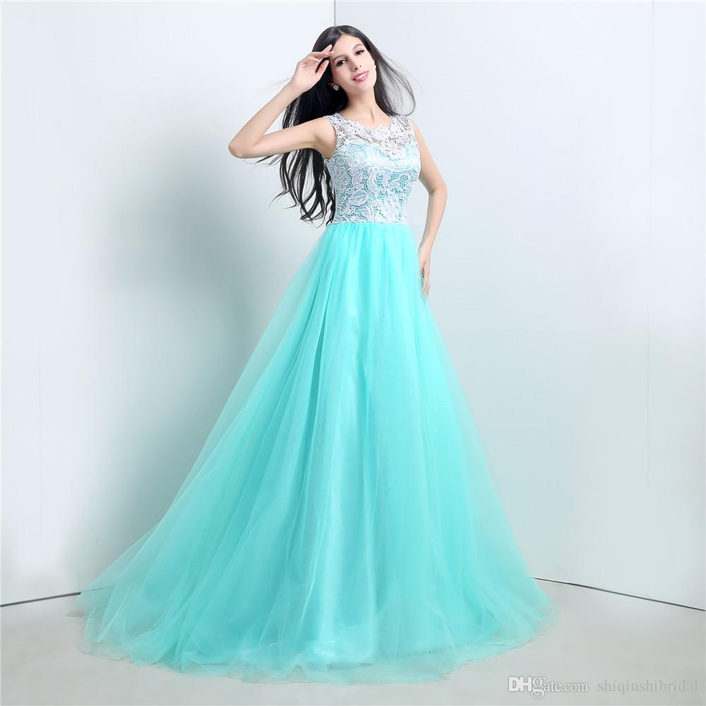 2015 100% Real Picture A Line Bridesmaid Prom Party Dress Ball ...