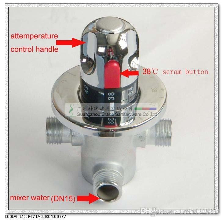 Thermostatische klep voor zonneboiler / thermostatische waterklep / thermostatische laboratoriummixer / Coldhot Water Automatic Controller