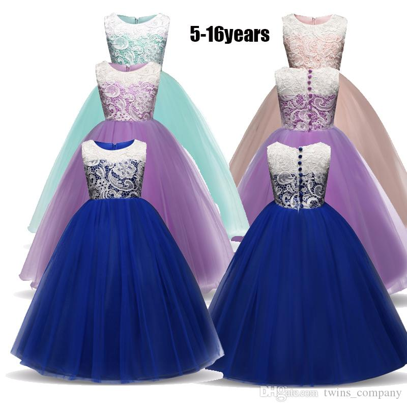 2019 Summer Flower Girl Dress 5 14 Years Baby Princess Dresses For Teen  Girls Wedding Party Vestidos Infantis Kid Girls Clothes From Twins company 008a7d138fc5