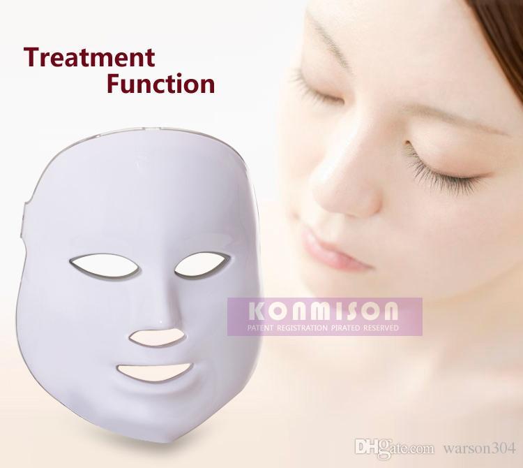 Máscara facial de uso en el hogar LED es PDT Photon Therapy mascarilla para el rejuvenecimiento de la piel Eliminación de arrugas Tratamiento para el acné Envío de DHL