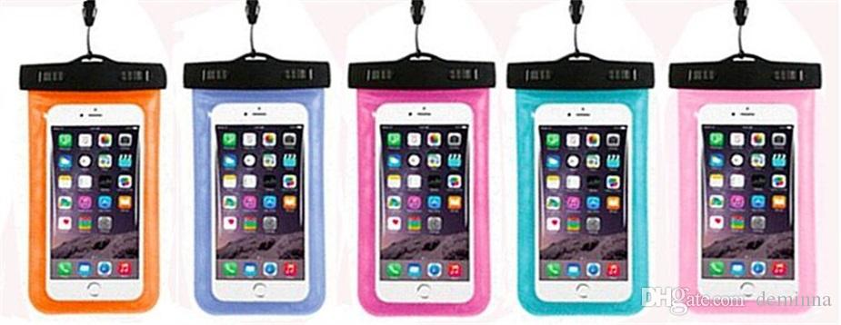 Waterproof case bag PVC Protective universal Phone Bag Pouch With Compass Bags For Diving Swimming For smart phone up to 5.8 inch
