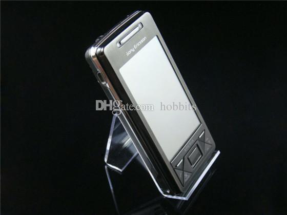 Frete grátis muito acrílico telefone celular carrinho de exposição do suporte de prateleira de telefone celular nova chegada