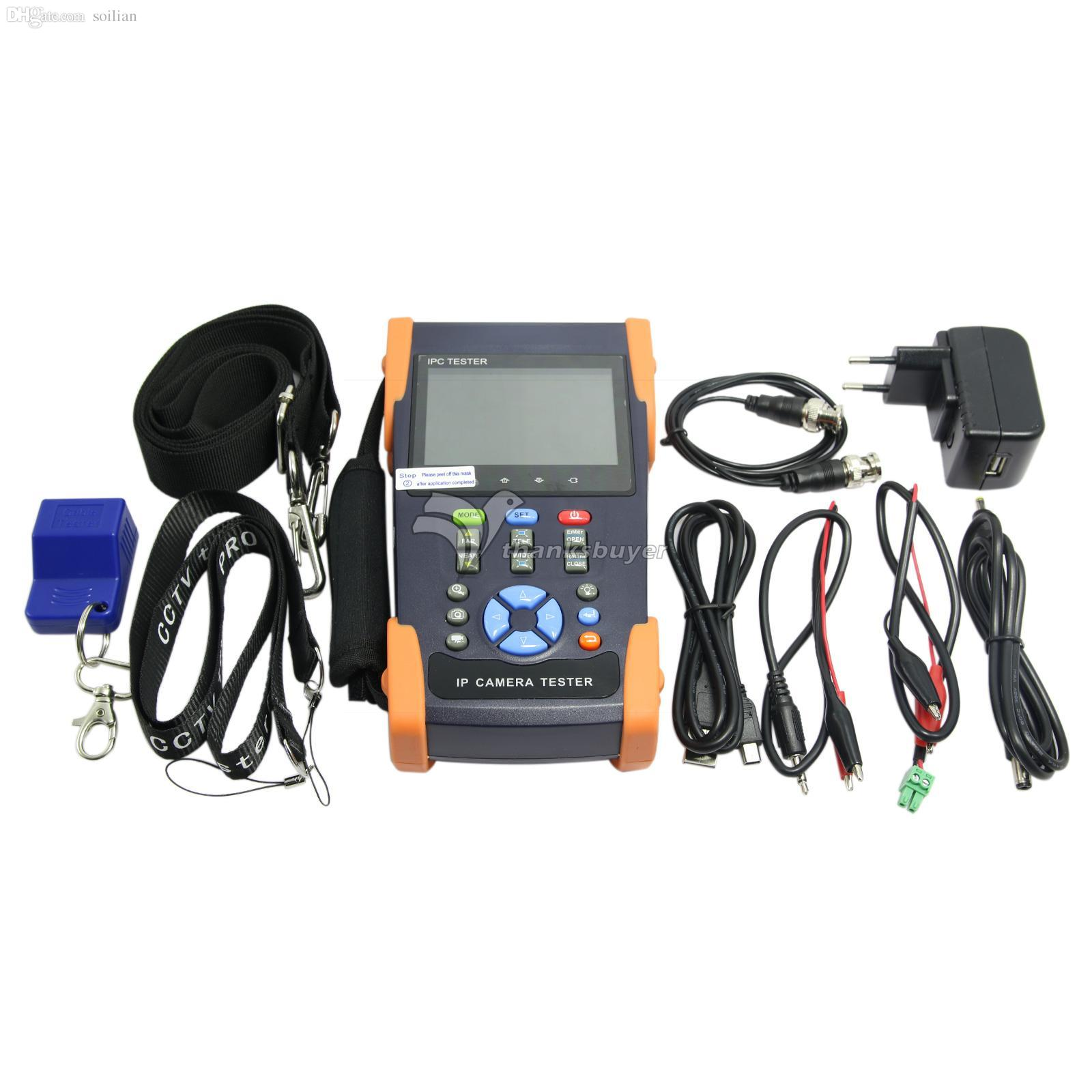 IPC-3500 3 5inch Touch Screen IP Camera CCTV Tester Support ONVIF Video  Recorder WIFI Multimeter TDR Cable Test