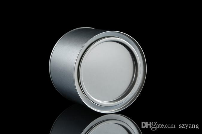 7.5*9.9cm Small Cylinder Metal Box Black Tea Storage Case Round Tin Coffee Gift Can Candy Cookies Container