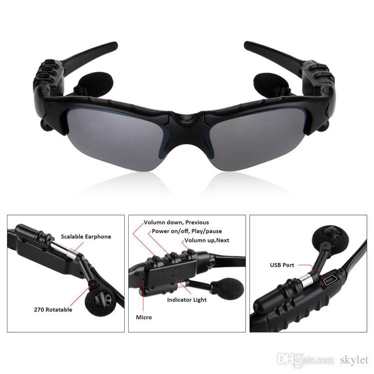 Güneş gözlüğü Bluetooth Kulaklık Sunglass Stereo Kablosuz Spor Kulaklık Handsfree Kulaklık Ile mp3 Müzik Çalar Perakende Paketi