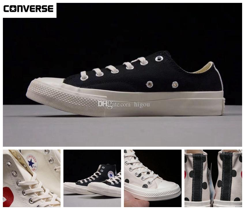 Acquista New Converse Kawakubo Comme Des Garcons Shoes 1970s Classic Canvas  Casual Play Jointly Big Eyes High Top Dot Heart CDG Wmens Men Fashion  Designer ... 614819585fb