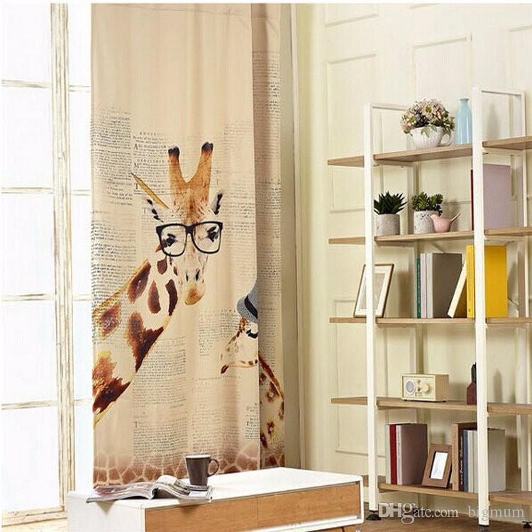 new arrival 3d curtain printed animal zebra parrot castle blinds