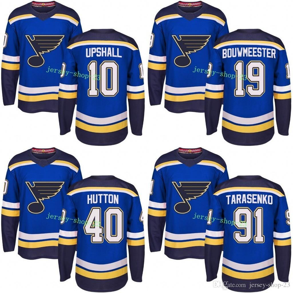 Online Cheap Customized Mens 2017 2018 St. Louis Blues 10 Scottie Upshall  19 Jay Bouwmeester 40 Carter Hutton 91 Vladimir Tarasenko Hockey Jerseys By  Jersey ... 7aa353450