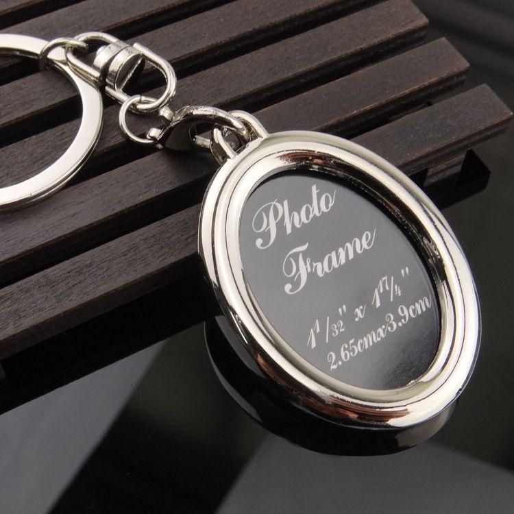 Новая мода Сердце круглой формы Фоторамка сплава брелки Брелоки венчания ювелирные подарки Бесплатная доставка