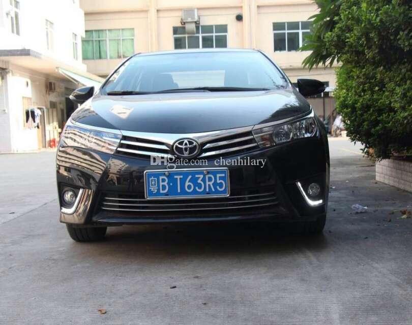 Новый автомобиль конкретных светодиодные дневные ходовые огни для Toyota Corolla 2014 DRL светодиодные дневного света авто противотуманные фары Противотуманные фары для toyota