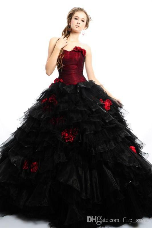 Hot Gothic Victorian Ball Gown Wedding Dresses 2015 Vintage