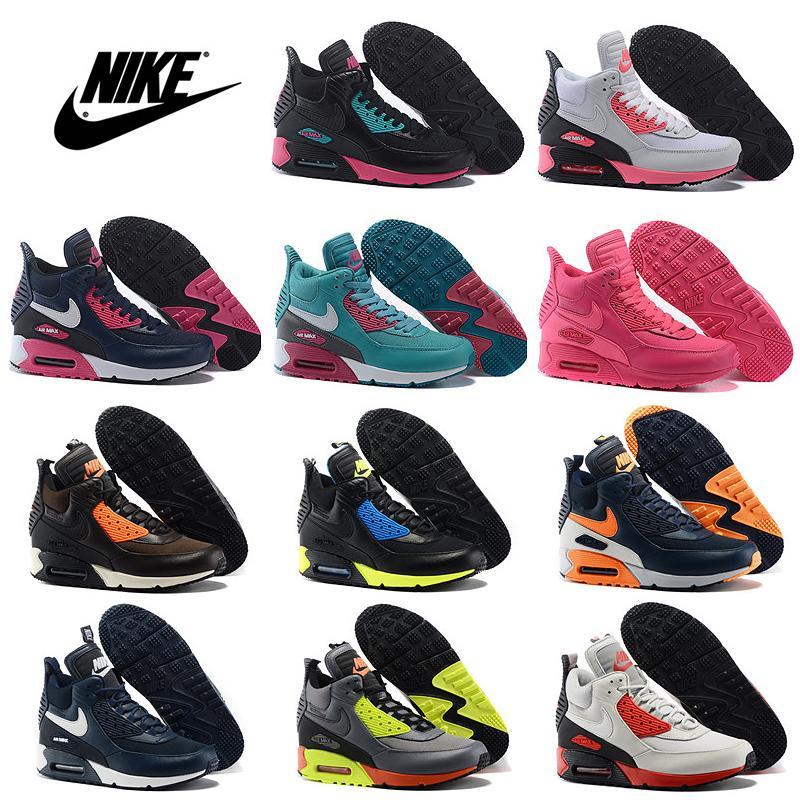 2018 Nike Air Max 90 High Cut Men Women New Arrival Running Shoes Men S Women S Jogging Shoes