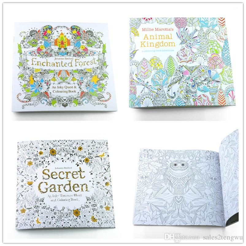 secret garden enchanted forest animal kingdom coloring books children adult relieve stress drawing book gift 24 pages 18518ing book for toddlers coloring