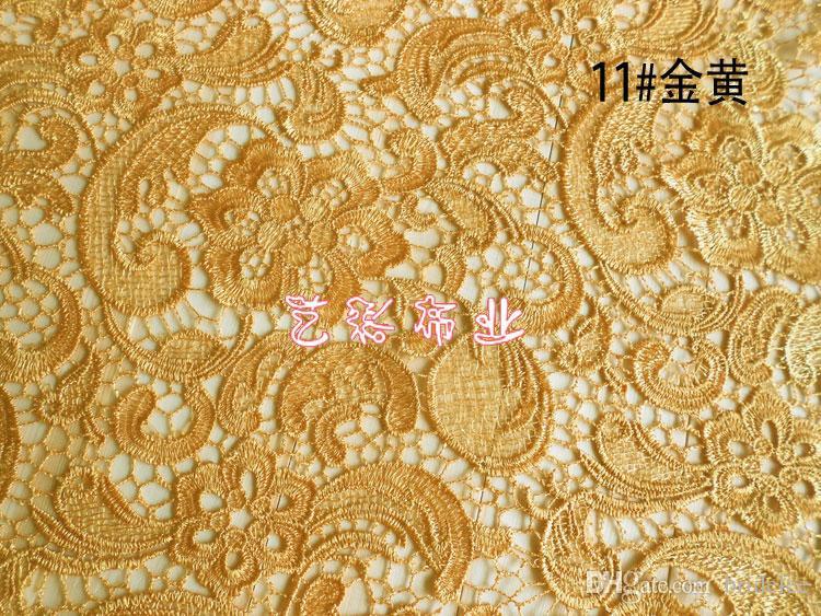 11 цветов Высококачественная Водорастворимая Вышитая ткань шнурка свадебное платье показать тонкие ткани Ширина вертикально 120см На складе