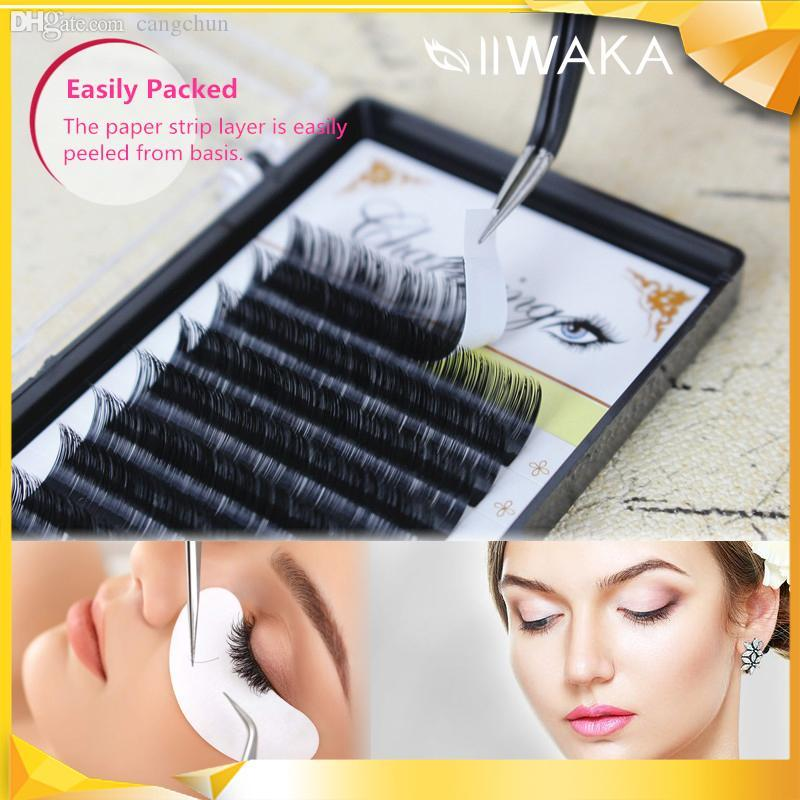 58056800e92 Wholesale Charming Lashes J/B/C/D/L Curl 8 14mm Individual Extension Real  Silk Japanese Eyelashes Soft Black Frees Hipping Eyelash Extensions Cost  Eyelashes ...