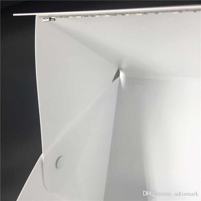 المحمولة قابلة للطي التصوير الفوتوغرافي استوديو Softbox الصمام الخفيفة لينة مربع لفون سامسونغ HTC DSLR كاميرا خلفية الصورة