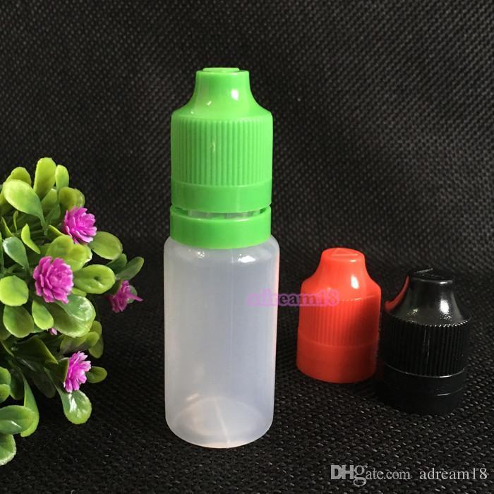 billigste e Flüssigkeit Flasche 15ml PE-Flaschen Kind manipulationssicher Kappe e Zigarette Saftflaschen freies Verschiffen manipulations Flaschen leer 15ml